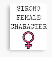 Genre - Strong Female Character Metal Print