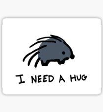Porcupine Needs a Hug Sticker
