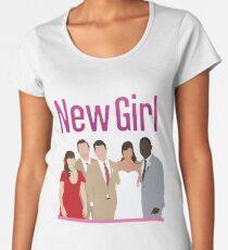 Neue Mädchen Hochzeit Premium Rundhals-Shirt