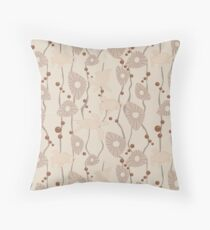 Swimming Turtles creamy Throw Pillow