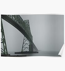 Astoria-Megler Bridge In Fog Poster