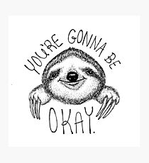Slothspiration Photographic Print