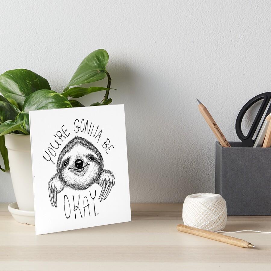 Slothspiration Art Board Print