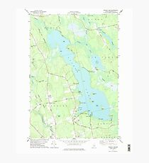 Maine USGS Historical Map Pushaw Lake 102901 1977 24000 Photographic Print