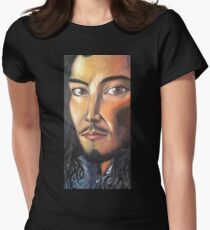 """""""He is…"""" Womens Fitted T-Shirt"""