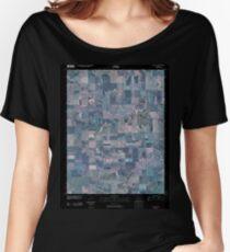 USGS TOPO Map Kansas KS Ness City 20091110 TM Inverted Women's Relaxed Fit T-Shirt