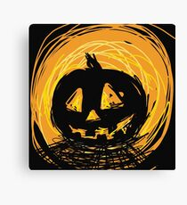 Halloween pumkin Canvas Print