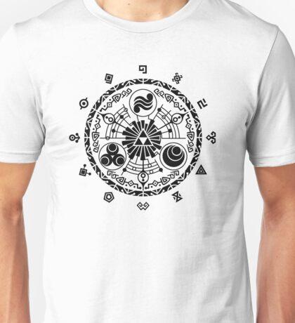 Gate of Time - Black Unisex T-Shirt