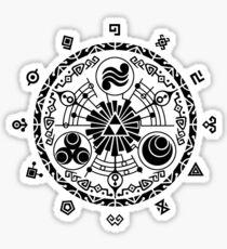 Gate of Time - Black Sticker