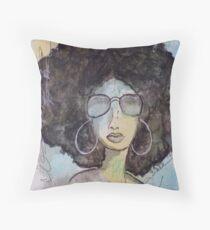 Dope Girl Art Throw Pillow