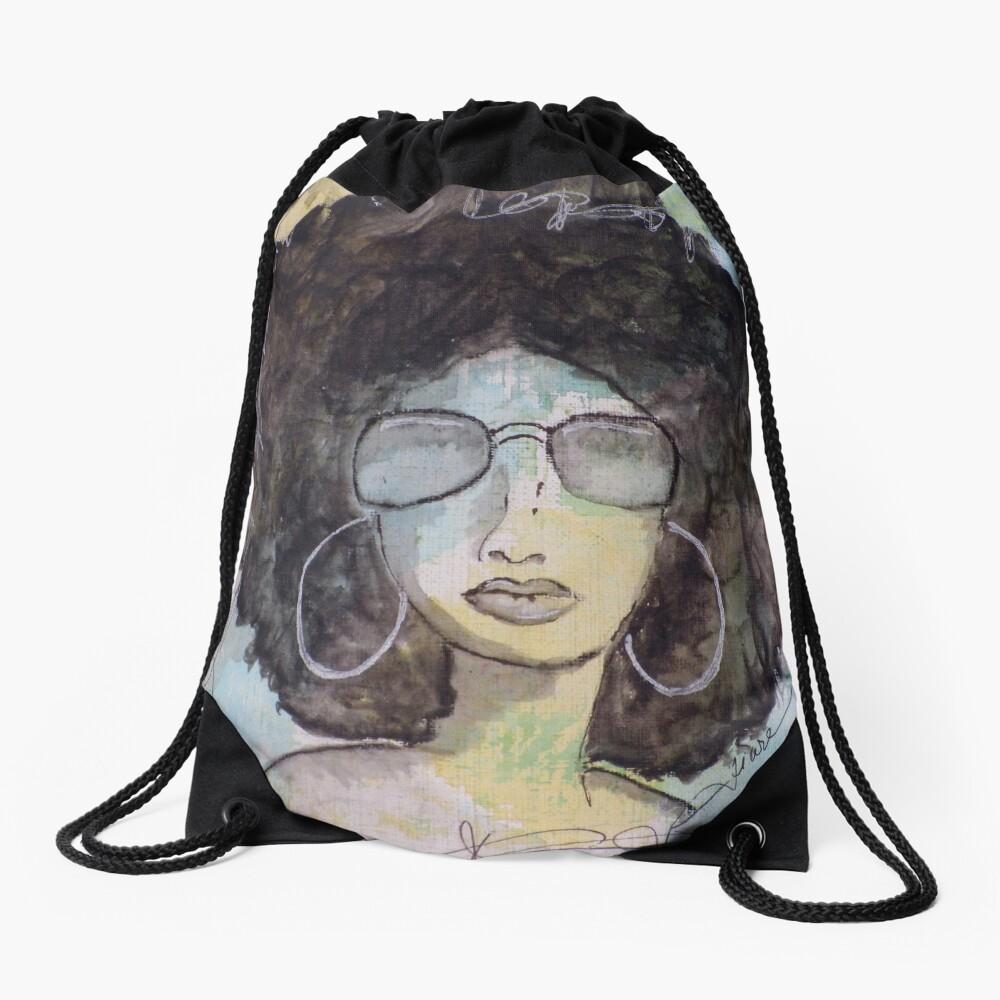 Dope Girl Art Drawstring Bag Front