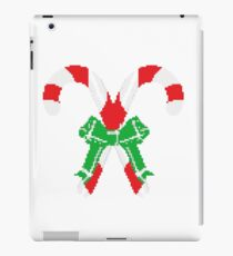 merry christmas 8bit retro gamer iPad Case/Skin