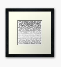 The National All Songs in Bob´s Burger Font Framed Print