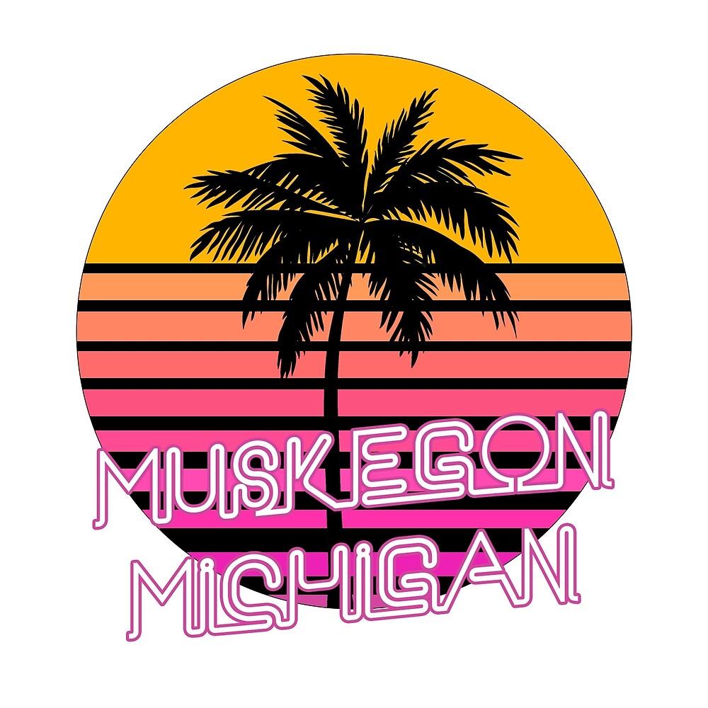 Muskegon Michigan Beach Design by tshirtbrewery
