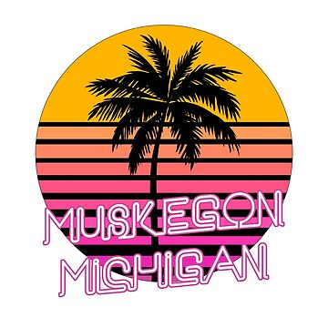 Muskegon Michigan Beach Design by tshirtbrewery