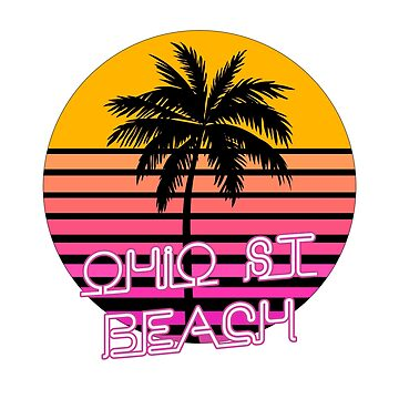 Ohio Street Beach Chicago Design by tshirtbrewery