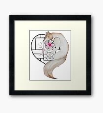 The wolf in love Framed Print