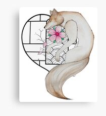 The wolf in love Canvas Print