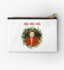 HO HO HO - Blanche Devereaux Christmas from the Golden Girls (Red) Studio Pouch