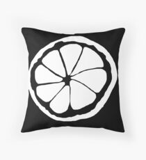 Stone Roses (lemon) Throw Pillow