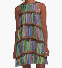 Book Case Shelves of Books A-Line Dress