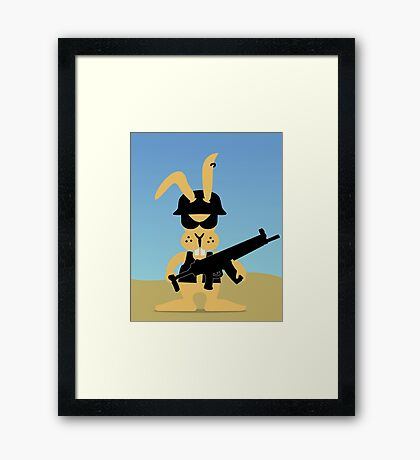 Bad Ass GI Bunny VRS2 Framed Print