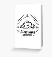 Wanderlust Mountains Adventure Greeting Card
