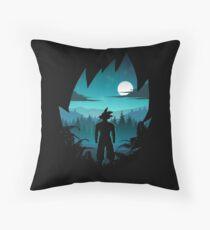 Goku Silhouette Throw Pillow