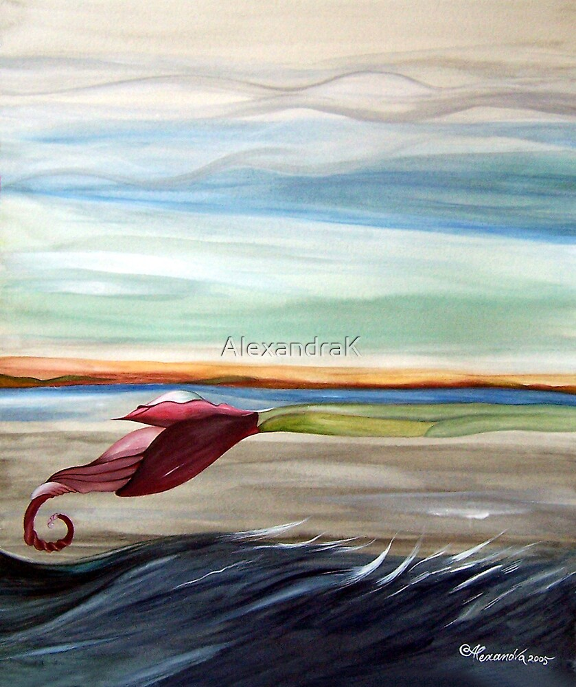 along the waves by AlexandraK