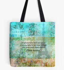 Witty Jane Austen travel quote Tote Bag