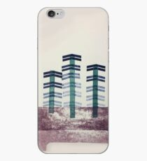 Letterpress Trees and Moon iPhone Case