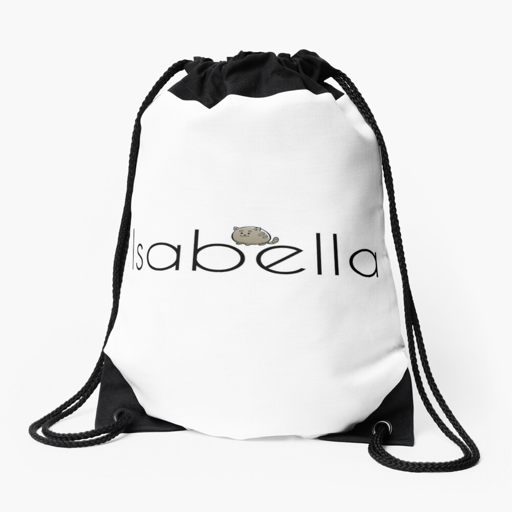 Isabella Cat Name Inspired by The Color of Money Drawstring Bag