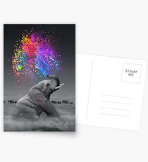 Postales Colores verdaderos dentro