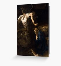 "Michelangelo Merisi da Caravaggio ""The Annunciation"" Greeting Card"