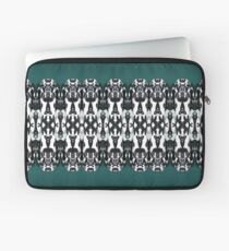 Tribal Dance - Black and White Feathers Laptop Sleeve