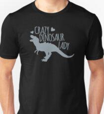 Crazy Dinosaur Lady (Tyrannosaurus)  Unisex T-Shirt