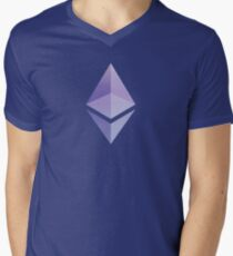 Ethereum in Colors 1 Men's V-Neck T-Shirt