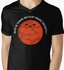 Flat Mars T-Shirt Men's V-Neck T-Shirt
