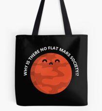Flat Mars T-Shirt Tote Bag