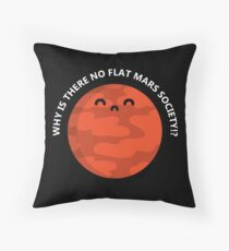 Flat Mars T-Shirt Throw Pillow