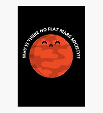 Flat Mars T-Shirt Photographic Print