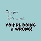 If at first you don't succeed, you're doing it wrong by Weber Consulting
