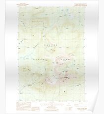 Maine USGS Historical Map Mount Katahdin 460642 1988 24000 Poster