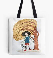 Tree Girl Tote Bag