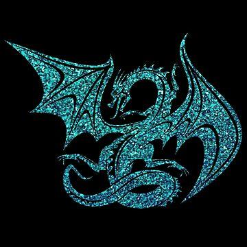 Blue Glitter Dragon by NicholiCosplay