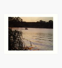 Early morning on the river. Art Print