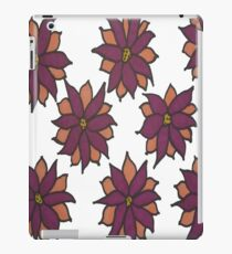 Holiday Two-Tone Flowers iPad Case/Skin