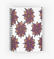 Holiday Two-Tone Flowers Spiral Notebook