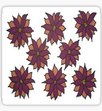 Holiday Two-Tone Flowers Sticker