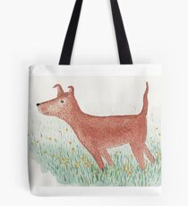 Windy Day Dog Tote Bag